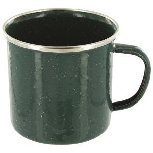 Highlander Deluxe Enamel Mug Green