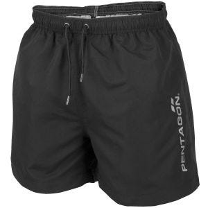 Pentagon Hippocampus Swimming Shorts Black