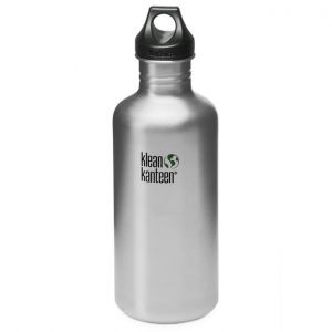 Klean Kanteen Classic 1182ml Bottle with Loop Cap Brushed Stainless