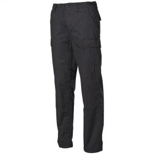 MFH BDU Combat Trousers Ripstop Black