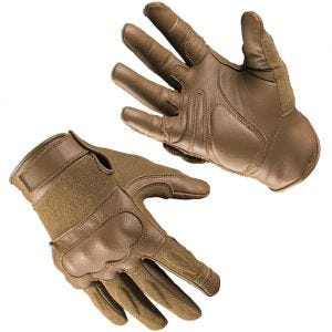 Mil-Tec Tactical Gloves Leather / Kevlar Dark Coyote