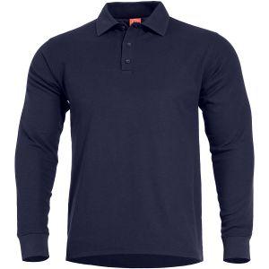 Pentagon Aniketos Polo Shirt Long Navy Blue