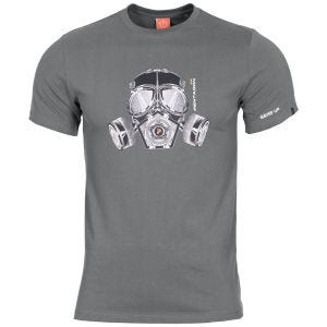 Pentagon Ageron Gas Mask T-Shirt Wolf Grey