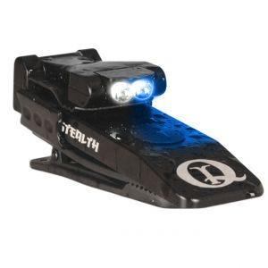QuiqLite Stealth White / Blue LED Flashlight