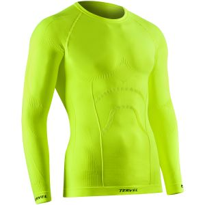 Tervel Comfortline Shirt Long Sleeve Yellow Fluo