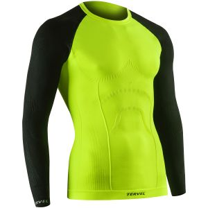 Tervel Comfortline Shirt Long Sleeve Yellow Fluo / Black