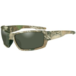 Wiley X WX Rebel Glasses - Polarized Green Lens / Realtree Xtra Camo Frame