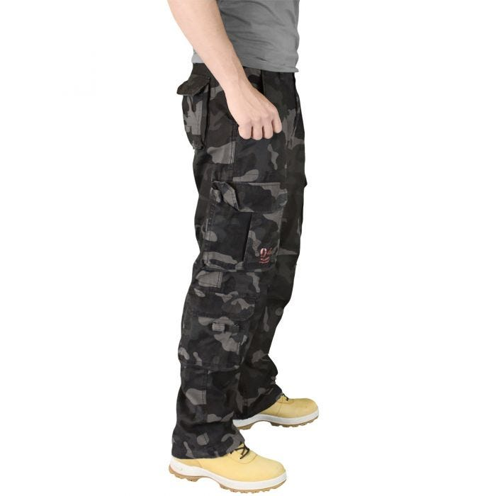 Surplus Airborne Vintage Trousers Black Camo cf74d1c687944