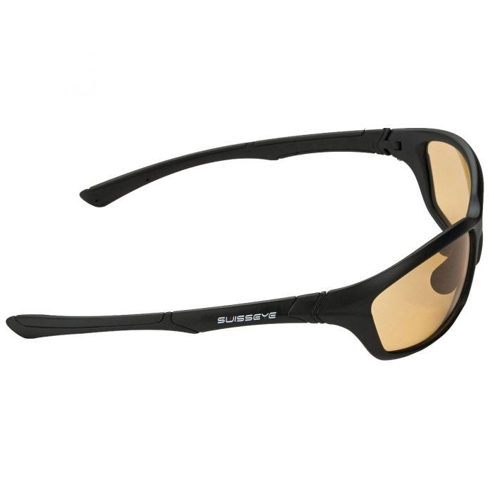 Swiss Eye Drift Sunglasses - Photochromic Orange Smoke Lens / Matt Black Frame