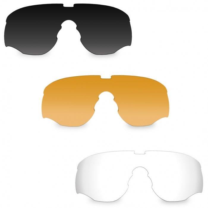 7b3a02c7844 Wiley X WX Rogue Comm Glasses - Smoke Grey + Clear + Light Rust Lens   Matte  Black Frame