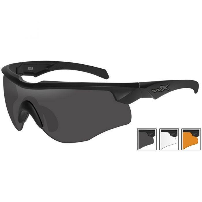 69f54576c03 Wiley X WX Rogue Comm Glasses - Smoke Grey + Clear + Light Rust ...