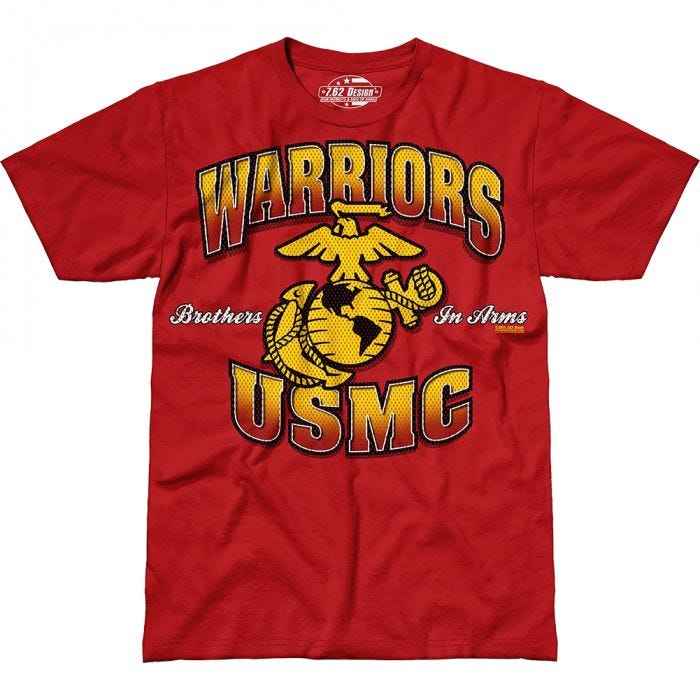 7.62 Design USMC Warriors T-Shirt Scarlet