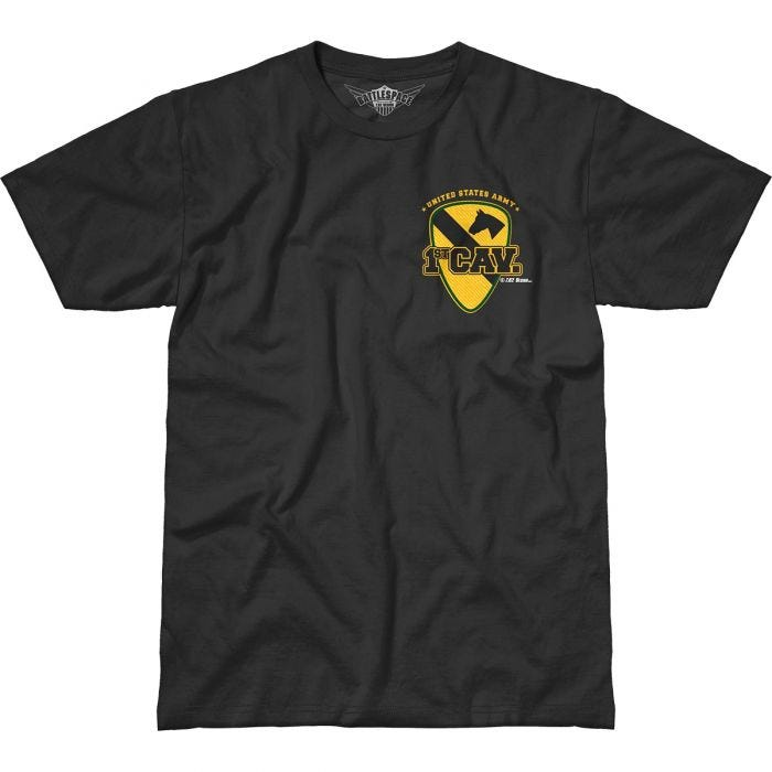7.62 Design Army 1st Cavalry First Team Battlespace T-Shirt Black