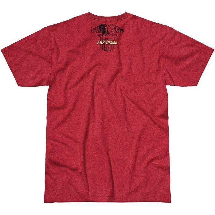 7.62 Design Patriotism is not a Crime T-Shirt Scarlet Heather