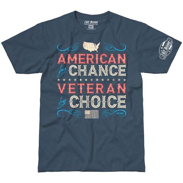 7.62 Design Veteran By Choice American T-Shirt Indigo