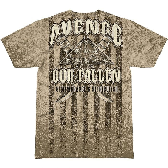 7.62 Design Avenge Our Fallen T-Shirt Sand