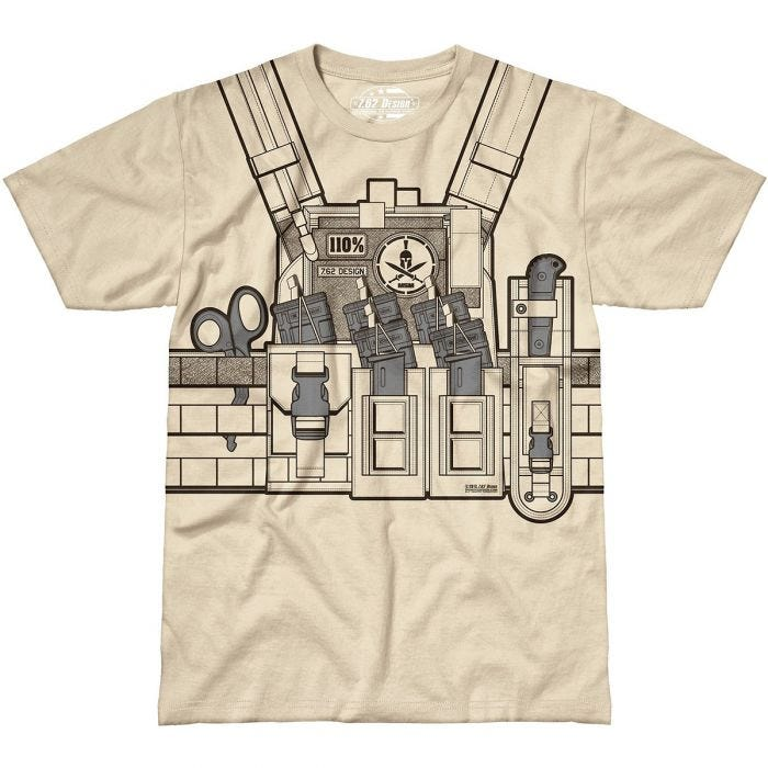 7.62 Design Bullet Bouncer T-Shirt Sand