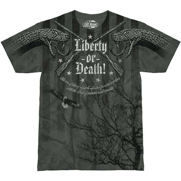 7.62 Design Liberty or Death T-Shirt Charcoal