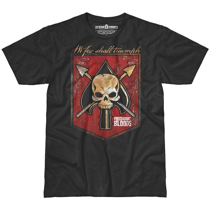 7.62 Design Red Bloods Battle Spade T-Shirt Black