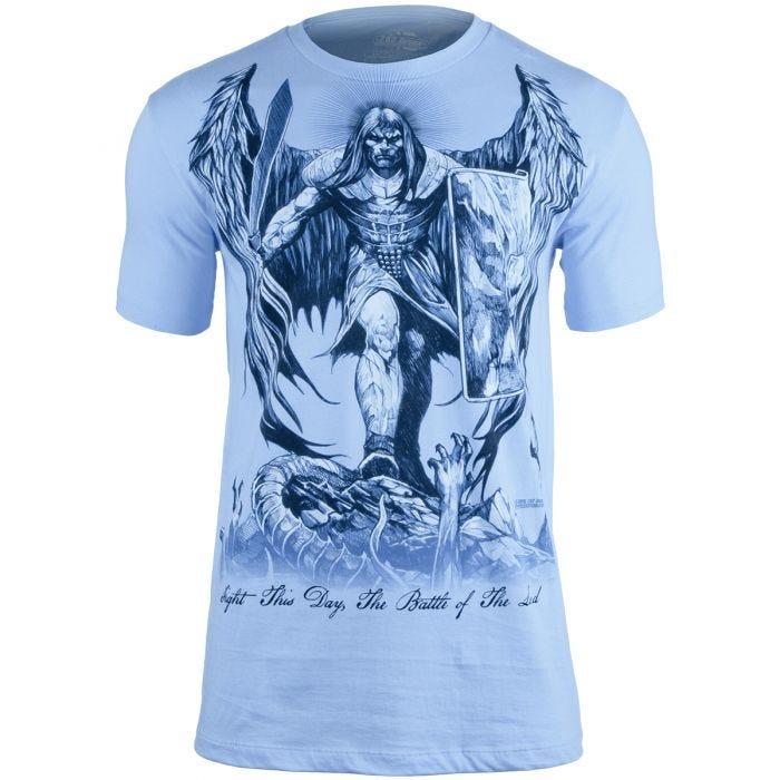 7.62 Design St Michael Fight This Day T-Shirt Light Blue