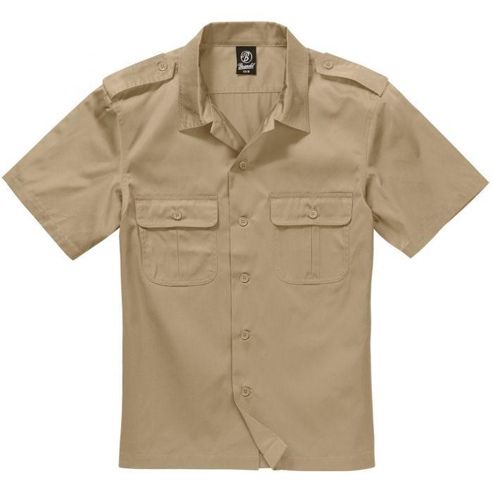 Brandit US Shirt Short Sleeve Beige
