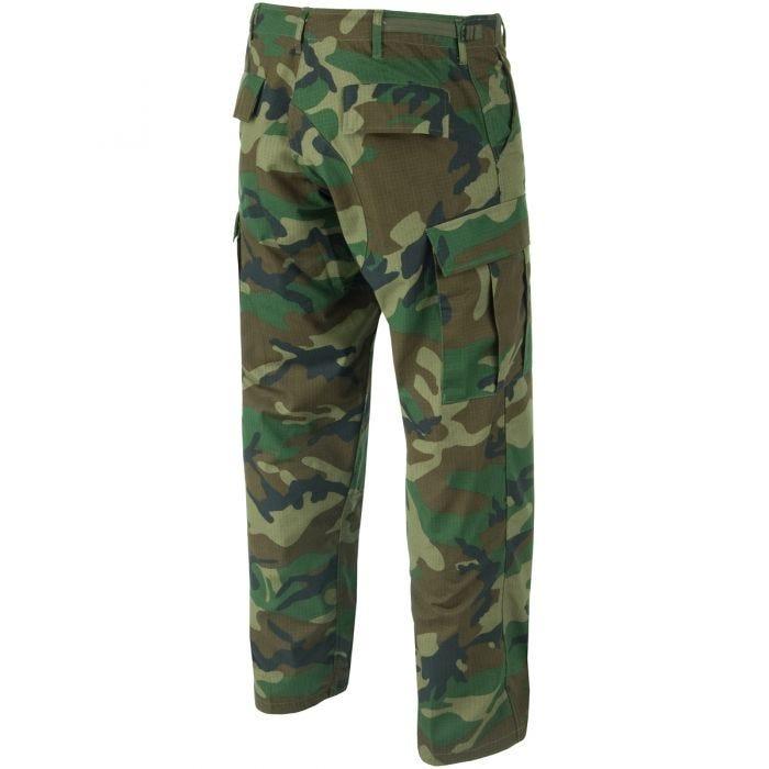 Teesar BDU Trousers Ripstop Woodland