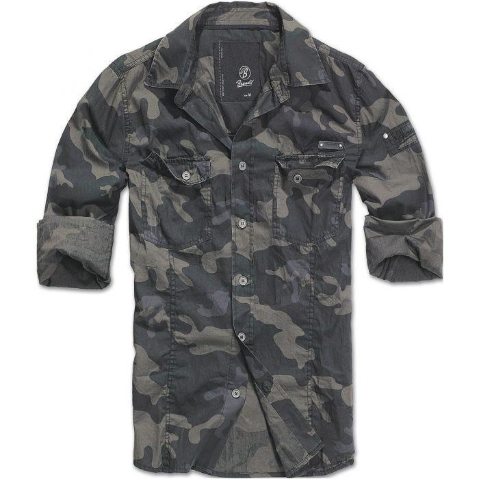 Brandit SlimFit Shirt Dark Camo