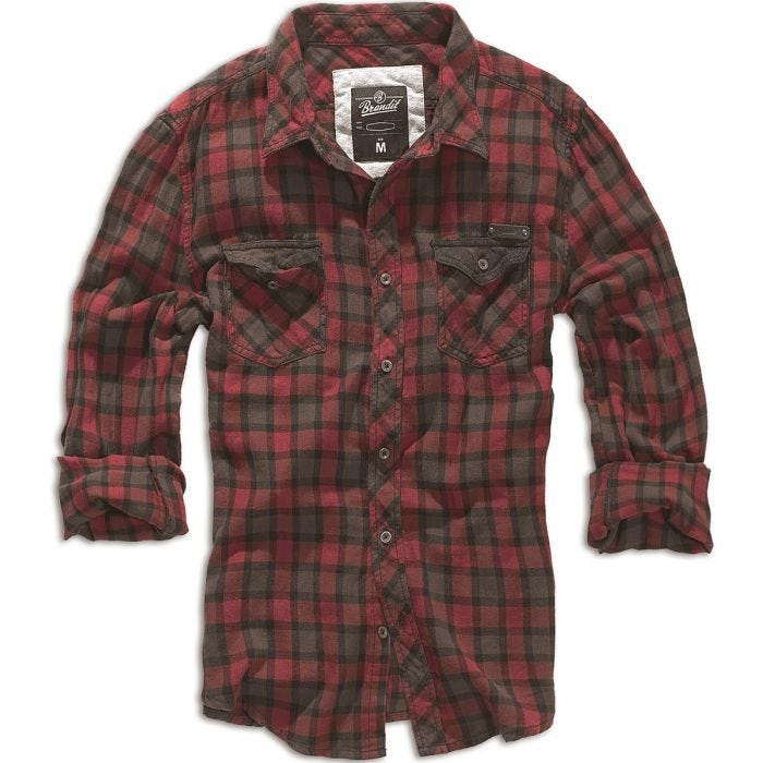 Brandit Checkshirt Duncan Red / Brown