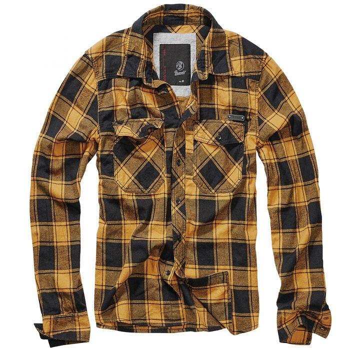 Brandit Check Shirt Fred Black / Yellow