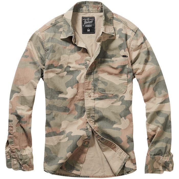Brandit Josh Shirt Long Sleeve Light Woodland
