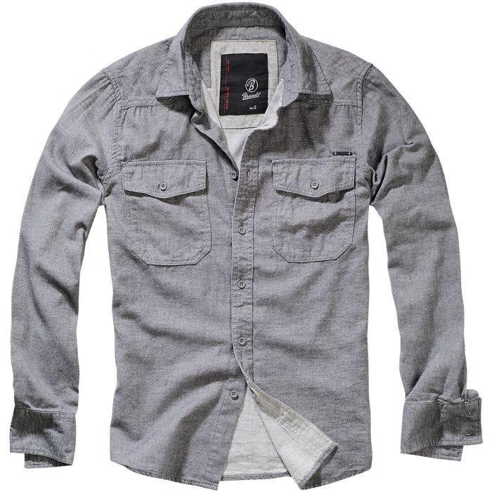 Brandit Tweedoptic Shirt Grey / Off-White