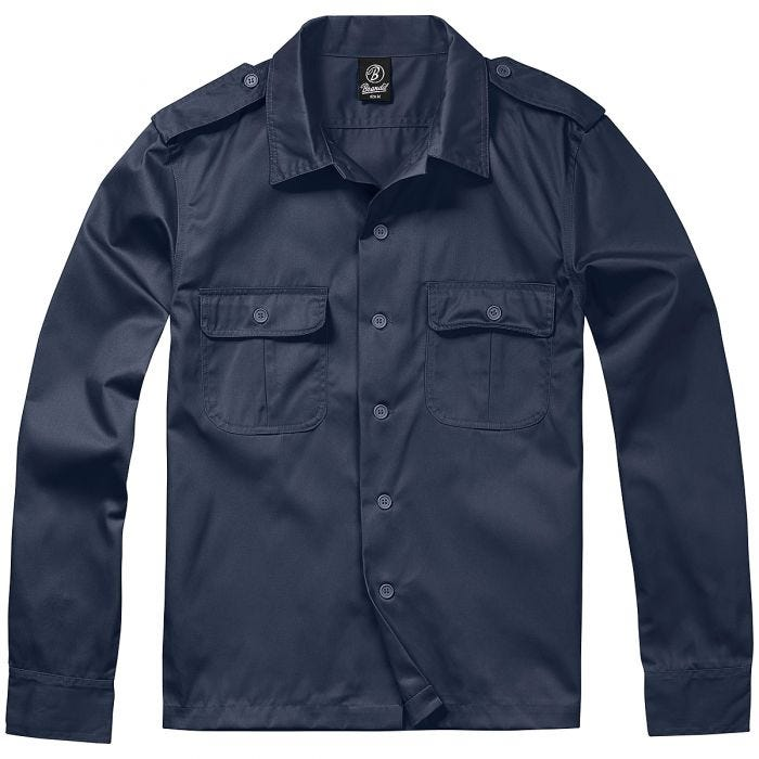 Brandit US Shirt Long Sleeve Navy