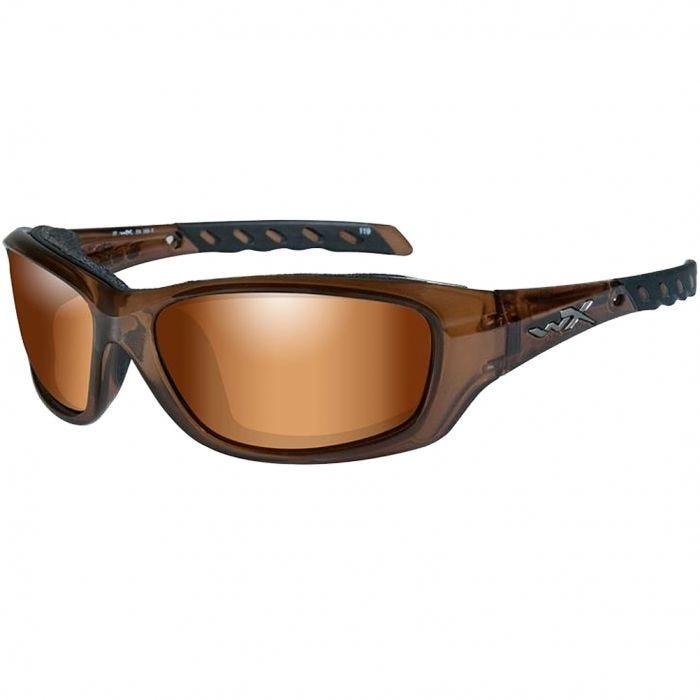 9bdf103555acf Wiley X WX Gravity Glasses - Bronze Flash Lens   Brown Crystal Frame
