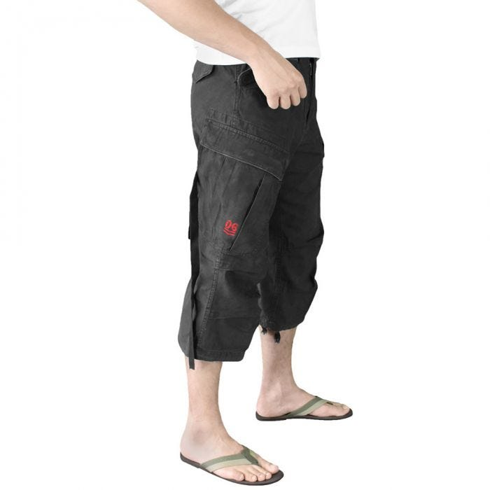 Surplus Engineer Vintage 3/4 Shorts Black