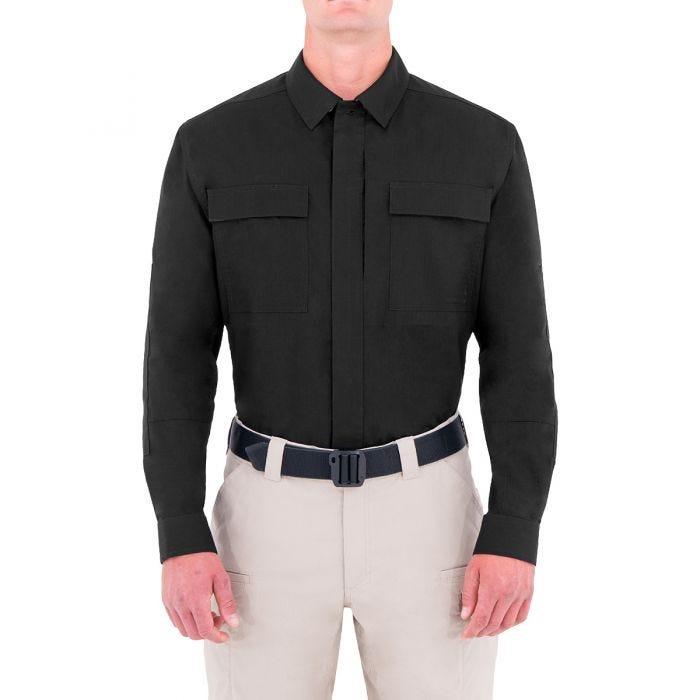 First Tactical Men's Tactix Long Sleeve BDU Shirt Black