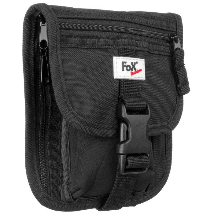 Fox Outdoor Neck Pouch with Mobile Pocket Black