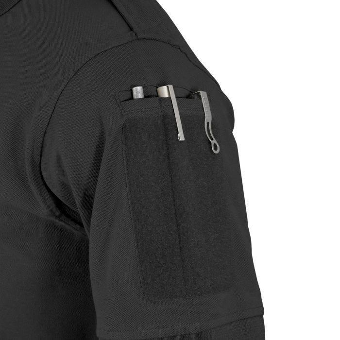 Hazard 4 Quickdry Undervest Plain Front Battle Polo Shirt Black