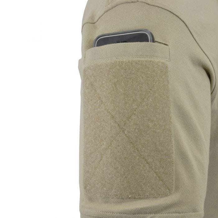 Hazard 4 Quickdry Undervest Plain Front Battle Polo Shirt Tan