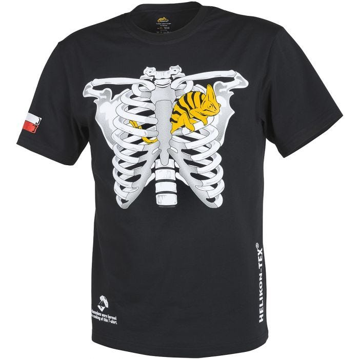 Helikon Chameleon in Thorax with PL Flag T-shirt Black