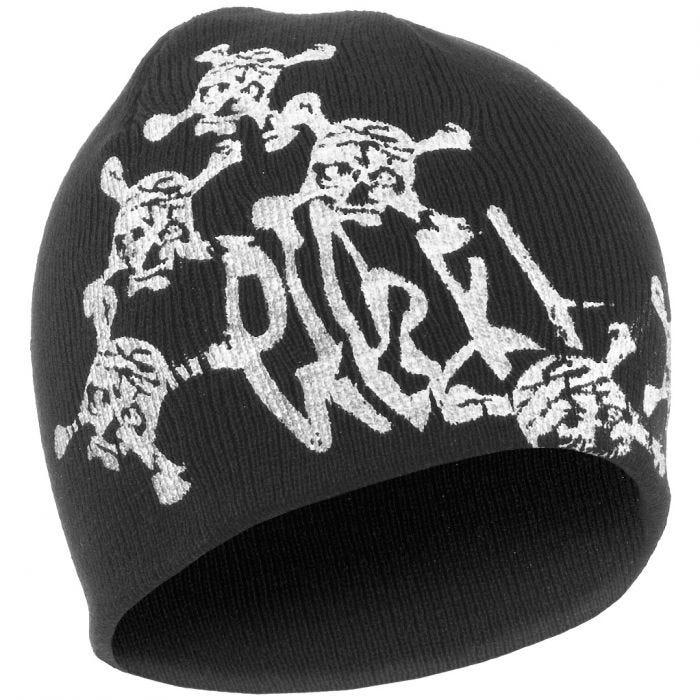 Mil-Tec Acrylic Cap Black with Skull Motif
