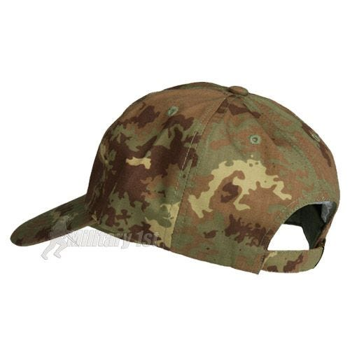 Mil-Tec Baseball Cap with Metal Buckle Ripstop Vegetato Woodland