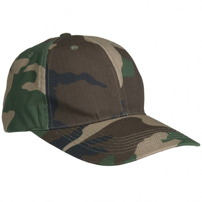 Mil-Tec Baseball Cap with Metal Buckle Ripstop Woodland a71803ffd8f