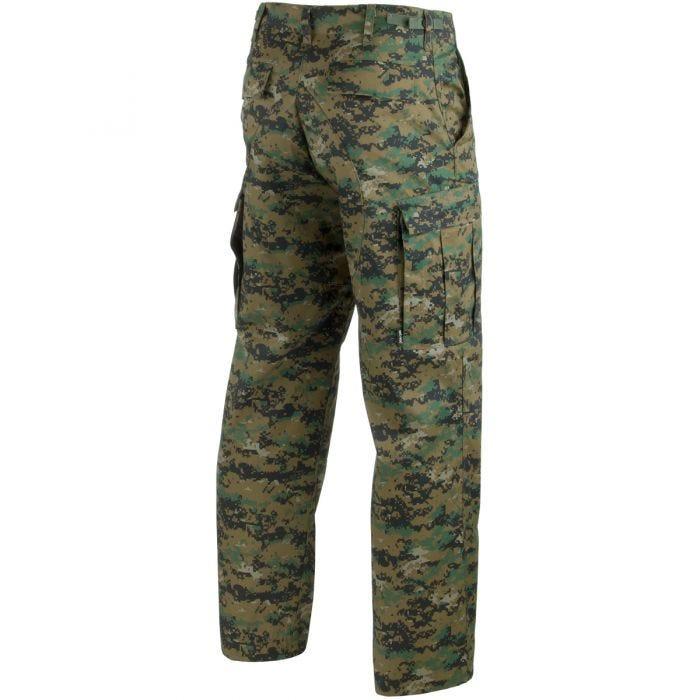 Mil-Tec BDU Combat Trousers Digital Woodland