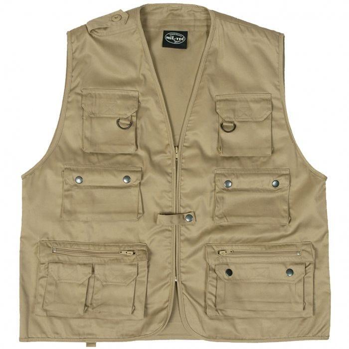 Mil-Tec Fishing Vest Khaki