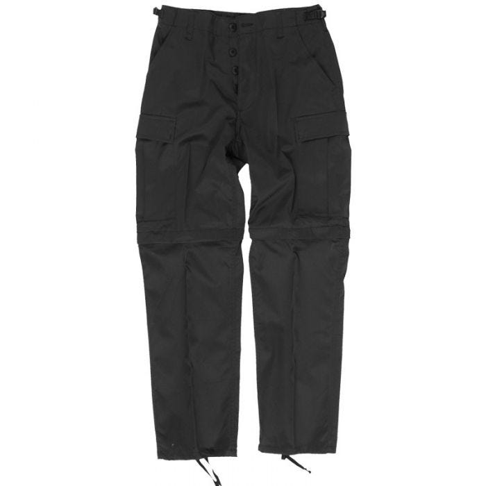 Zip-Off Combat Trousers Black