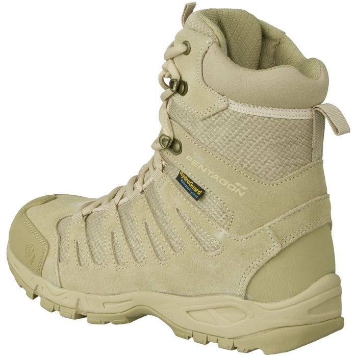 """Pentagon Achilles 8"""" Trekking Boots Desert Tan"""