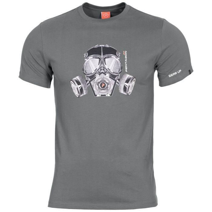 Pentagon Ageron T-Shirt Gas Mask Wolf Grey