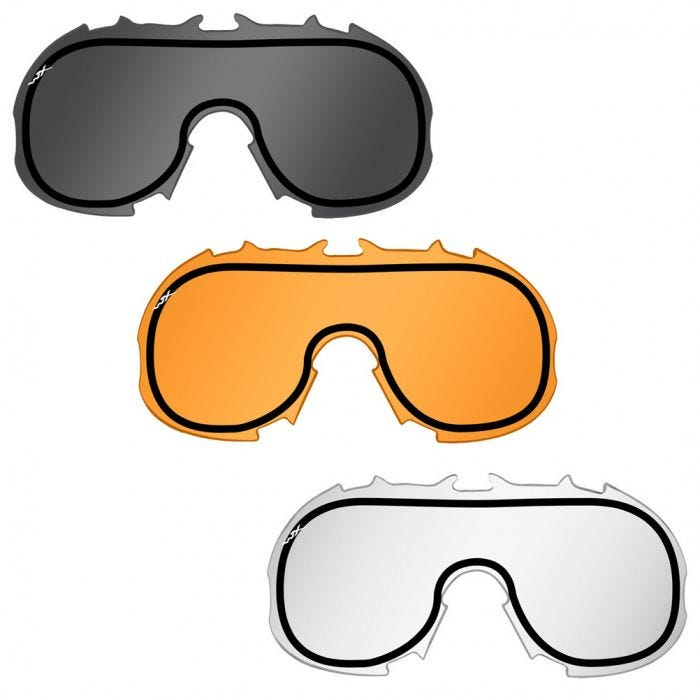 65f8f7bee Wiley X Spear Goggles - Dual Smoke Grey + Clear + Light Rust Lens / Matte  Tan Frame