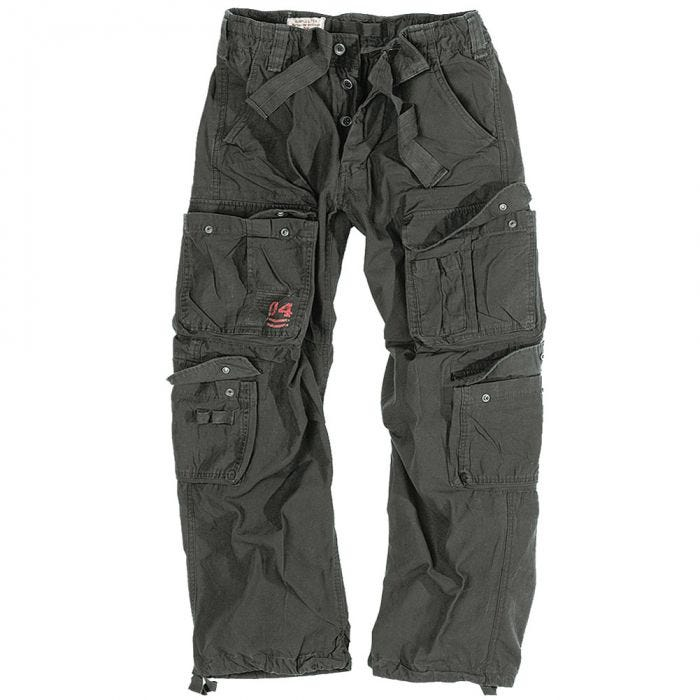 Surplus Airborne Vintage Trousers Black