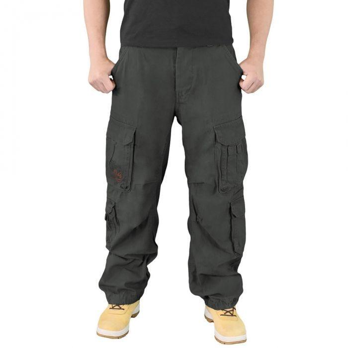 Surplus Airborne Vintage Trousers Black
